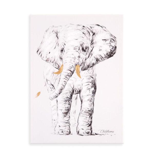 Cuadro Elefante para dormitorio infantil